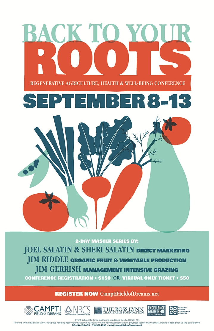 Back To Your Roots 2020: Regenerative Agriculture, Health & Wellbeing image