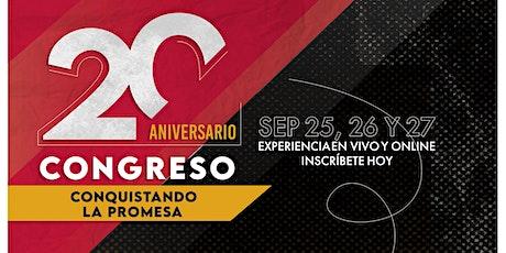 """Congreso 2020 """"Conquistando La Promesa""""  Sesion Domingo SEP 27 5 PM tickets"""