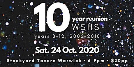 WSHS 10 Year Reunion tickets
