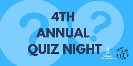 4th Annual Quiz Night tickets
