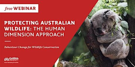 Free Webinar: Behaviour Change for Wildlife Conservation tickets