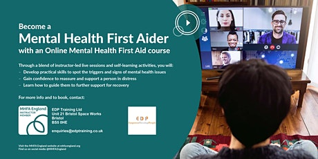 Online Mental Health First Aid Certificate  - MHFA tickets