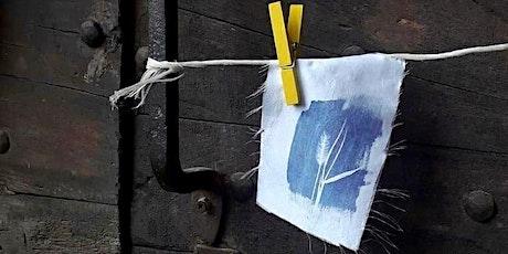 Alla scoperta del blu di Prussia | laboratorio di cianotipia biglietti