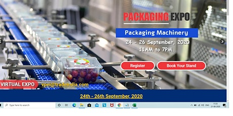 Packaging Expo India 2020 tickets