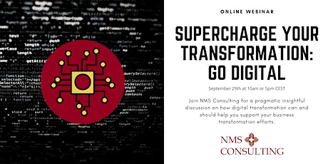 Supercharge your Transformation: Go Digital tickets