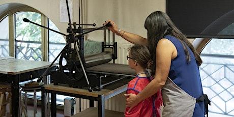 Journées du patrimoine |  Atelier de gravure et d'impression billets