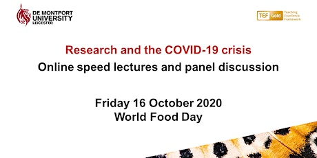 Research and the COVID-19 crisis - World Food Day tickets