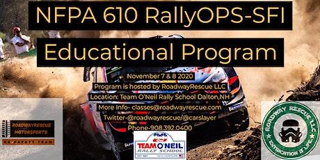 RallyOPS SFI NFPA 610/FIA tickets