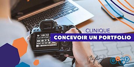 Clinique Infiny - Concevoir un portfolio billets