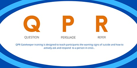 QPR Training - Question, Persuade, Refer (1hour) - Glendale Residents Only tickets