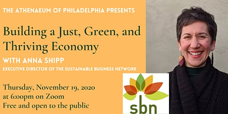 Building a Just, Green, and Thriving Economy with Anna Shipp tickets
