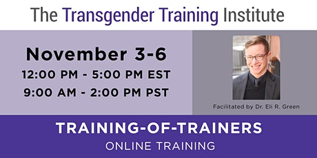 TTI's Training of Trainers - Philly, Nov 3-6, 2020 tickets