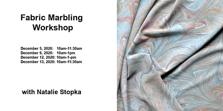 Fabric Marbling Virtual Workshop tickets