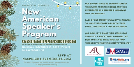 New American Speaker's Program Storytelling Night tickets