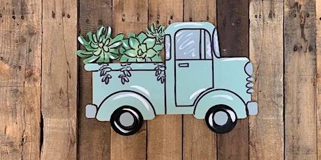 Succulent Vintage Truck Paint Party tickets