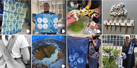 Indigo Shibori and Japanese Apron making online workshop tickets