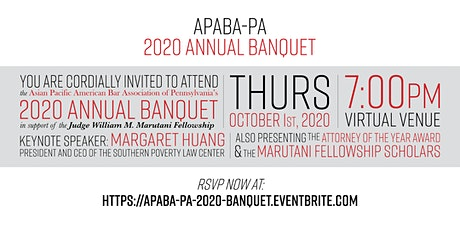 APABA-PA 2020 Annual Banquet tickets