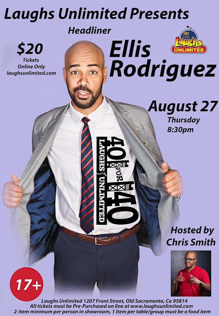 Ellis Rodriguez - 40 for 40 - Inside Jokes Outside Laughs (Silent Comedy) image