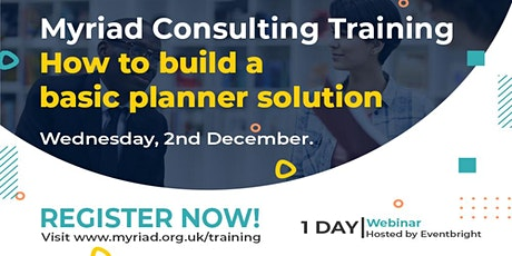 Unit4 ERP How to build a Basic Planner Solution Training Course tickets