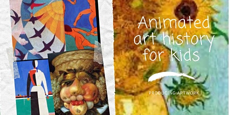 Acrylic Painting  And Animated Art History Stories For Kids tickets
