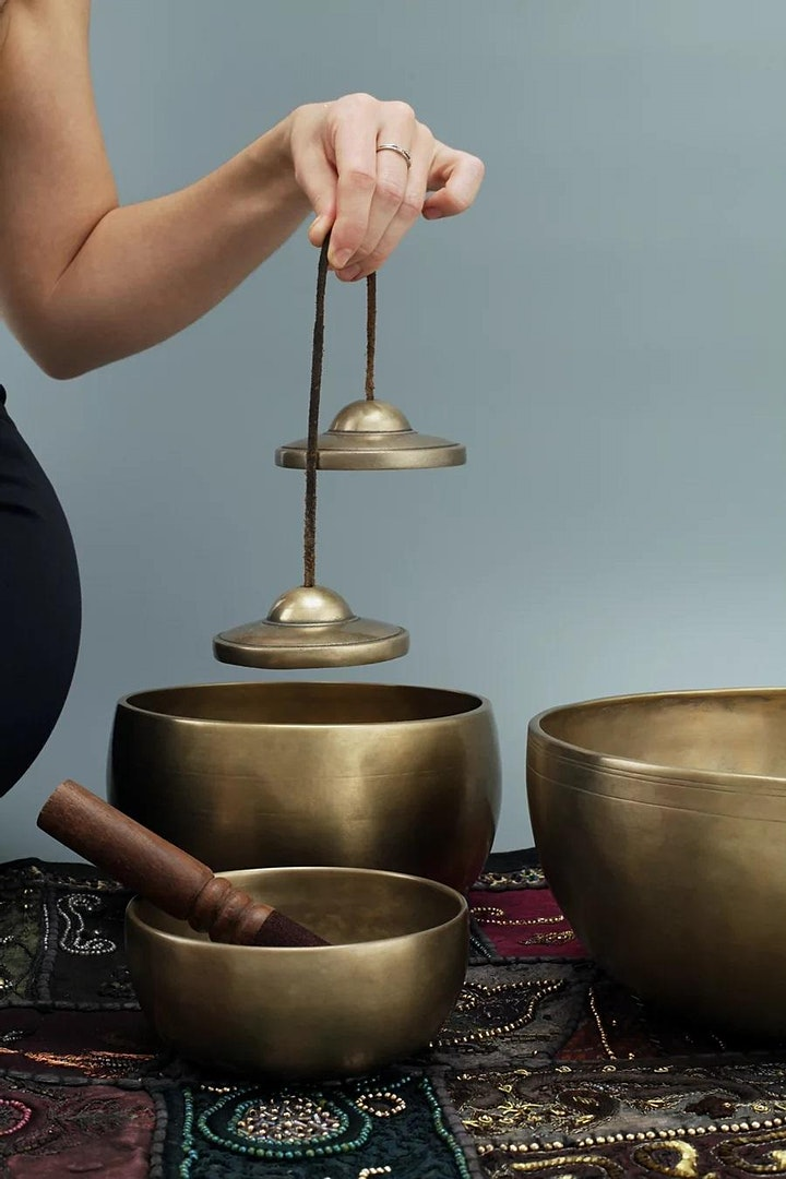 Energy Clearing with Tibetan Singing Bowl and Shamanic Drum image