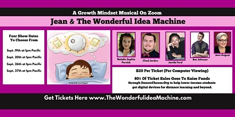 A Growth Mindset Musical - Jean & The Wonderful Idea Machine On Zoom tickets