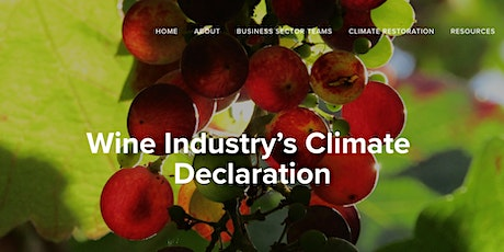 Wine Industry's Climate Declaration Webinar tickets