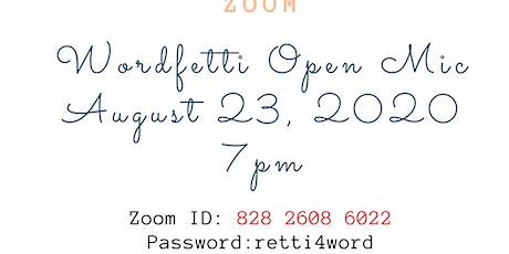 Wordfetti Open Mic tickets