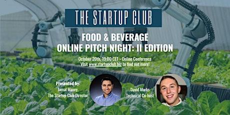 Food & Beverage Pitch Night tickets