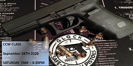 Concealed Pistol License aka CCW Training Saturday October 24th 7am to 5pm tickets