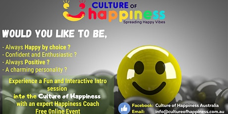 An Intro to a Culture of Happiness Masterclass tickets