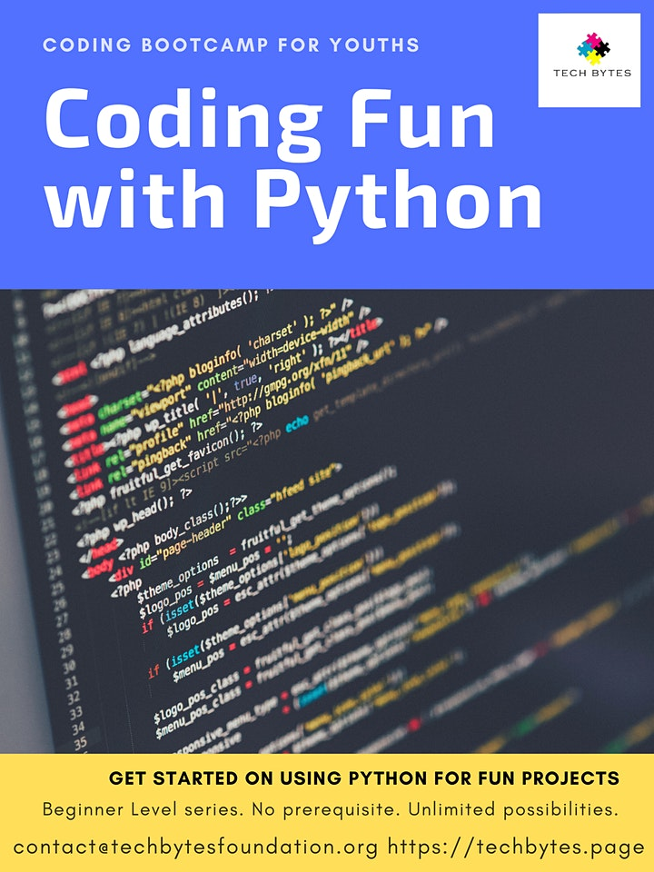 Coding Fun with Python - Power of Creativity - Beginner Level - For 13 - 18 image