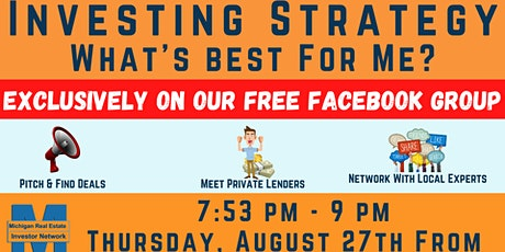 Michigan Real Estate Investor Networking Event - FREE ONLINE - #TheNetwork tickets
