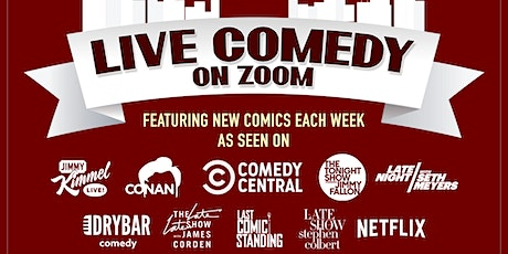 LIVE COMEDY ON ZOOM!  A Virtual Comedy Show! Every Sunday & Wed tickets