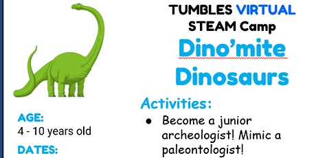 Virtual Dino  Class (Age 4- 10 years old) tickets