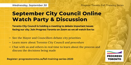 Fall Training: September City Council Online Watch Party & Discussion tickets