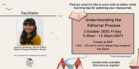 AFCC MASTERCLASS: Understanding the Editorial Process tickets