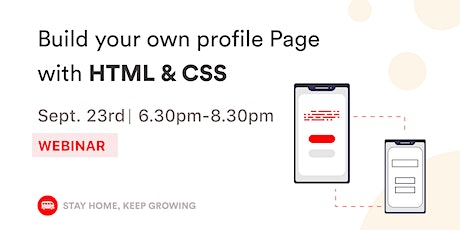 [WEBINAR] HTML & CSS: Build Your Own Landing Page! tickets