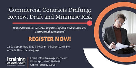 Commercial Contracts Drafting: Review, Draft and Minimise Risk tickets