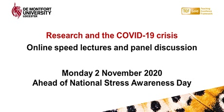 Research and the COVID-19 crisis – National Stress Awareness Day tickets