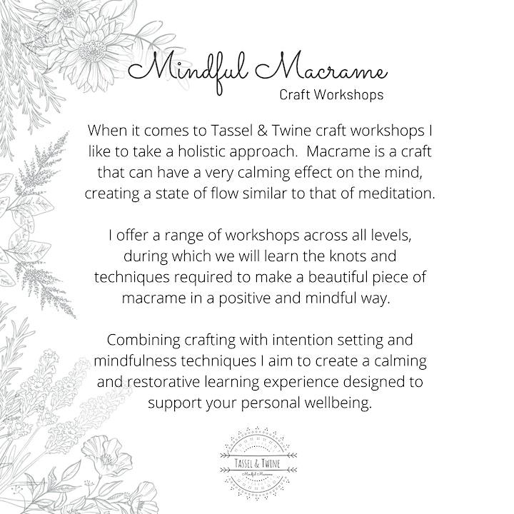 Level 1 Mindful Macramé: Sustainable Plant Hanger Workshop image