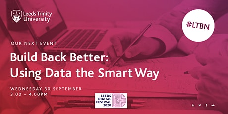 Build Back Better: Using Data the Smart Way tickets