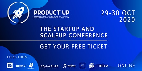Product Up: The Startup and Scaleup conference tickets