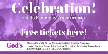 Gods Embassy Amsterdam Celebration 4-10 tickets