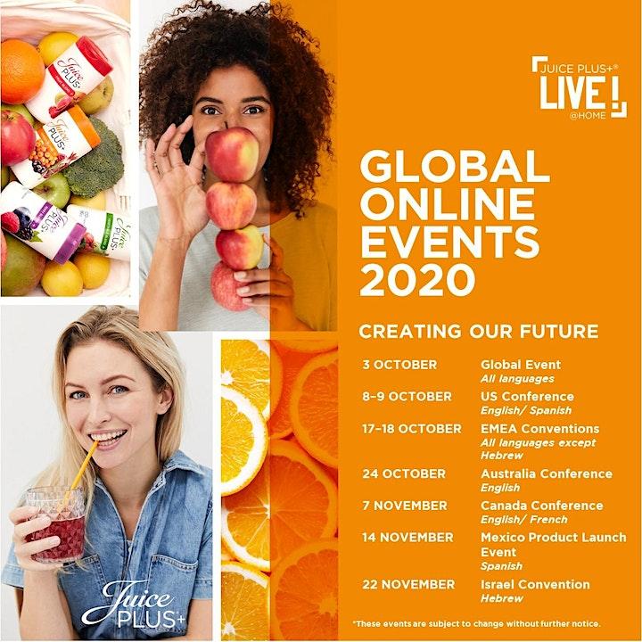 Juice Plus+ Online Events 2020 - US/CA/AUS/NZ/MX/SG/MY image
