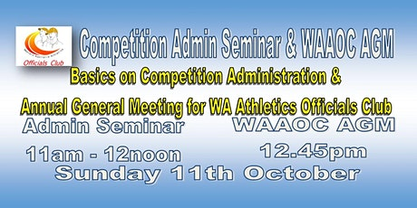 WAAOC Admin/Management Seminar & AGM tickets