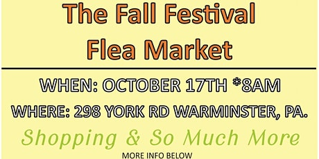 Fall Festival Flea Market tickets