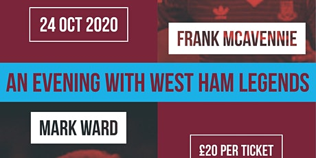 HAMMERS NIGHT with WARD & MCAVENNIE! tickets