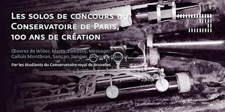 Les solos de concours du Conservatoire de Paris, 100 ans de création tickets