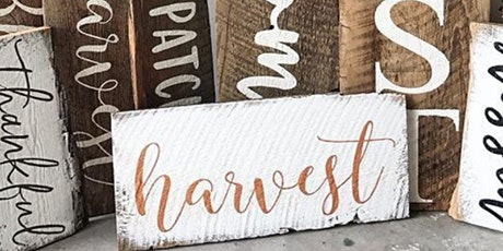 Barnboard Fall Wood Sign tickets